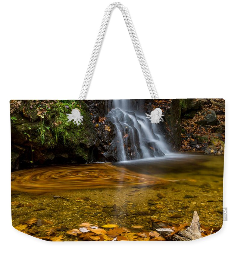 Waterfall Weekender Tote Bag featuring the photograph Fall Waterfall 3 by Blaine Blasdell