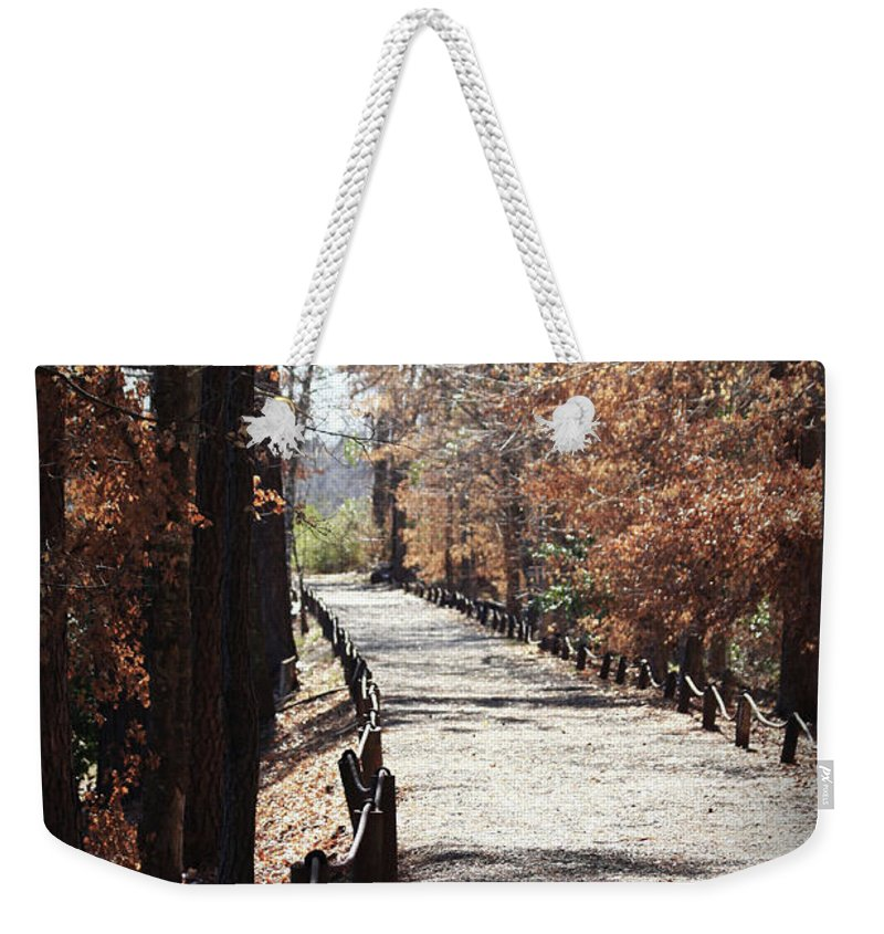 Fall Foliage Weekender Tote Bag featuring the photograph Fall Wonder Land by Kim Henderson