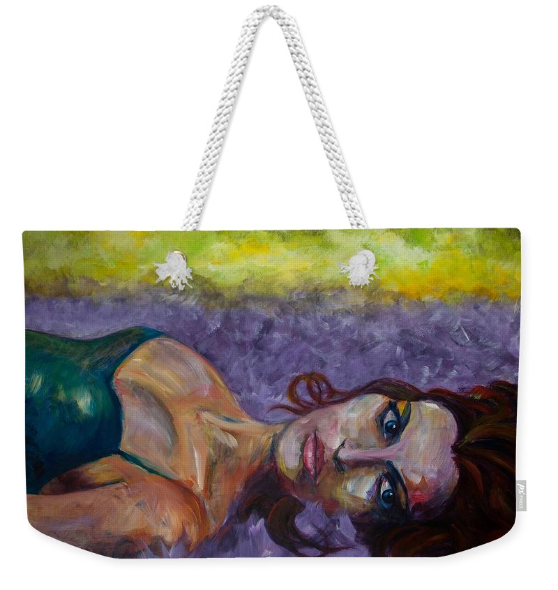 Expressive Weekender Tote Bag featuring the painting Fallen by Jason Reinhardt