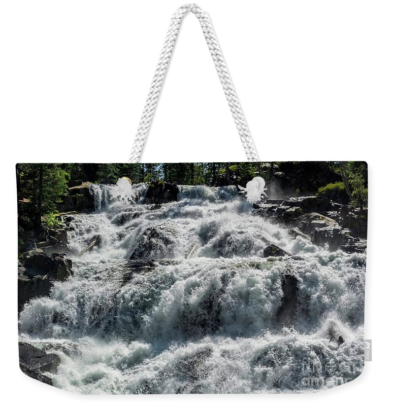California Weekender Tote Bag featuring the photograph Fallen Leaf Falls by Joe Lach