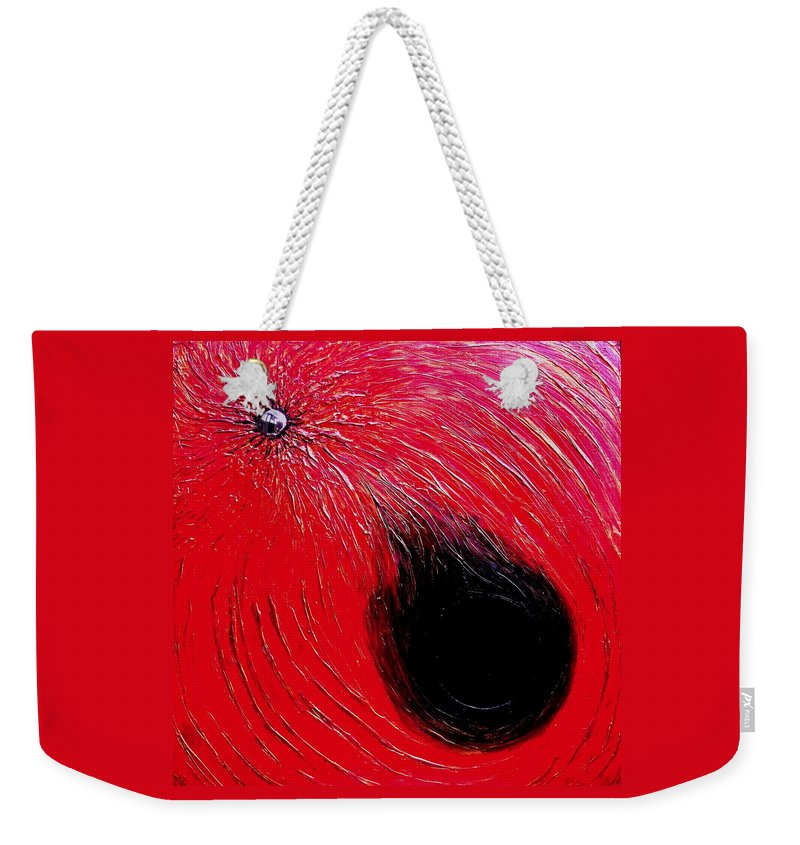 Abstract Weekender Tote Bag featuring the painting Falling In to Passion by Ian MacDonald