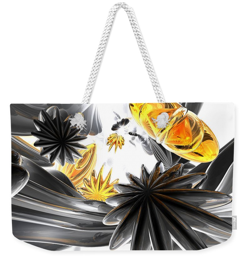 3d Weekender Tote Bag featuring the digital art Falling Stars Abstract by Alexander Butler