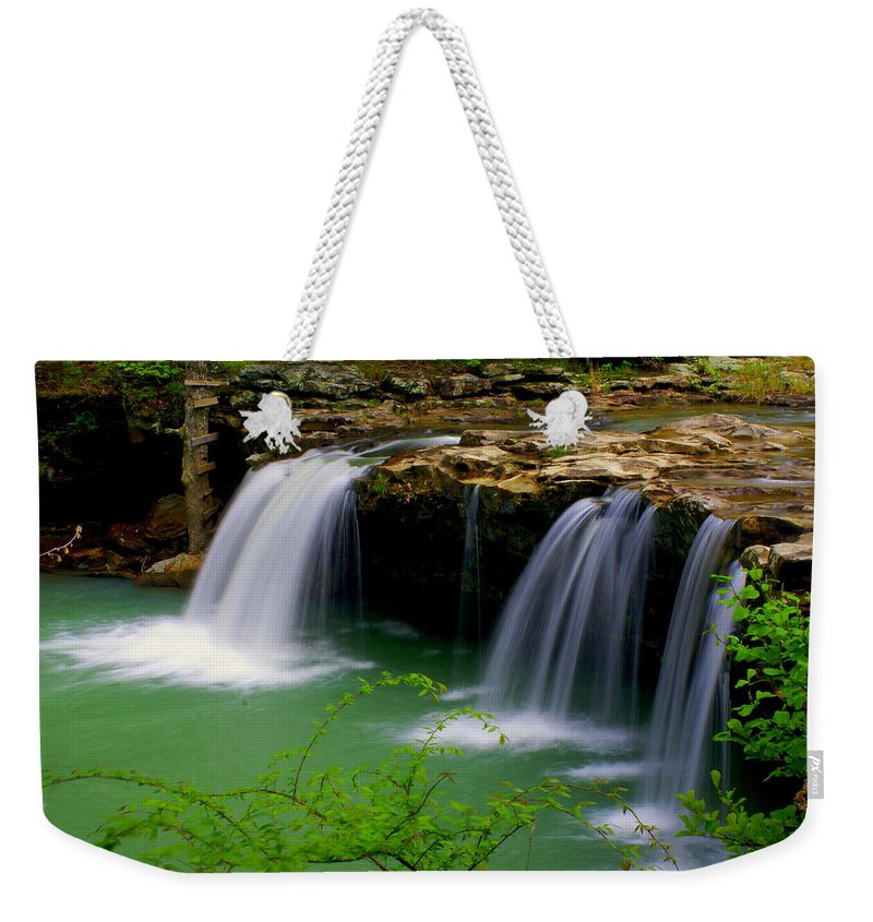 Waterfalls Weekender Tote Bag featuring the photograph Falling Water Falls by Marty Koch