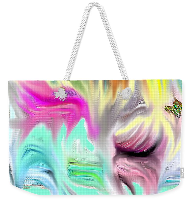 Abstract Weekender Tote Bag featuring the photograph Falls And Walls by Ian MacDonald