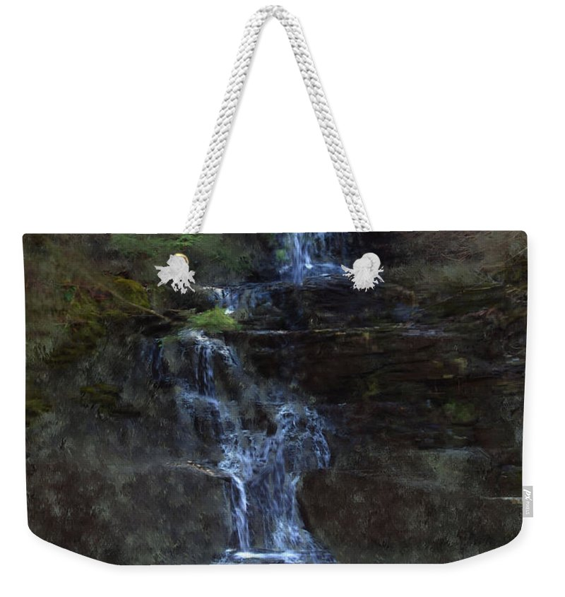 Weekender Tote Bag featuring the photograph Falls At 6 Mile Creek Ithaca N.y. by David Lane