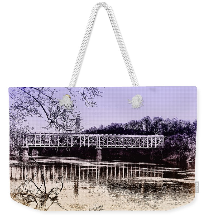 Philadelphia Weekender Tote Bag featuring the photograph Falls Bridge by Bill Cannon