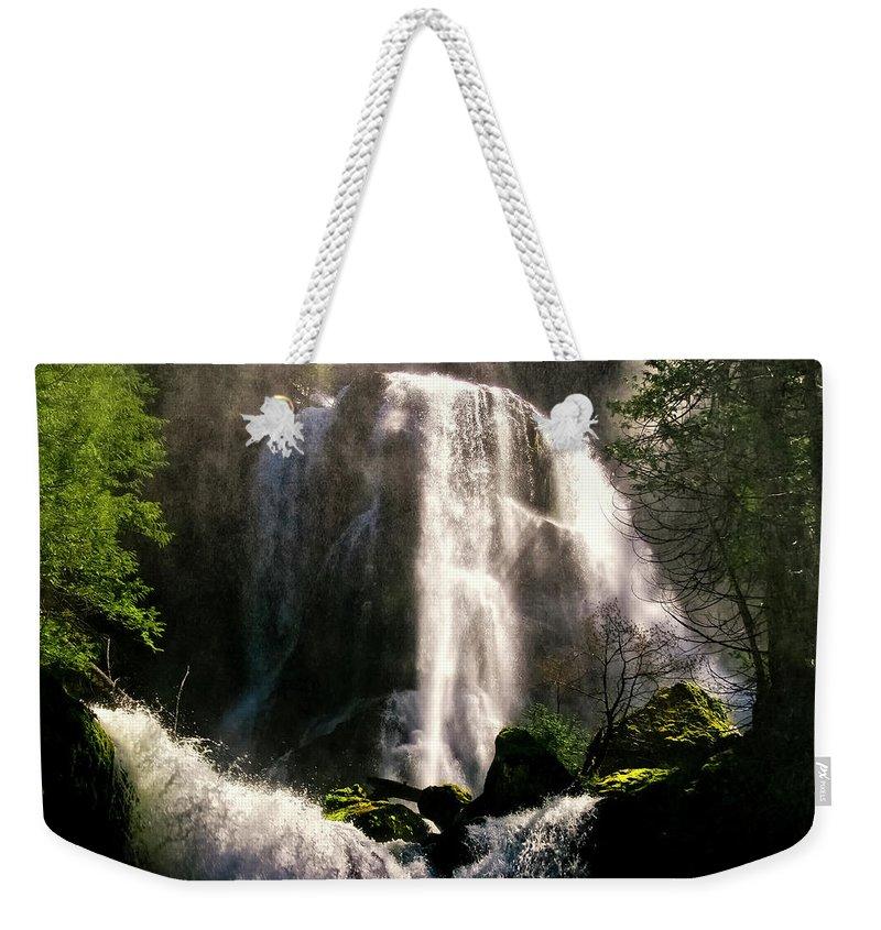 Falls Creek Weekender Tote Bag featuring the photograph Falls Creek Falls by Albert Seger