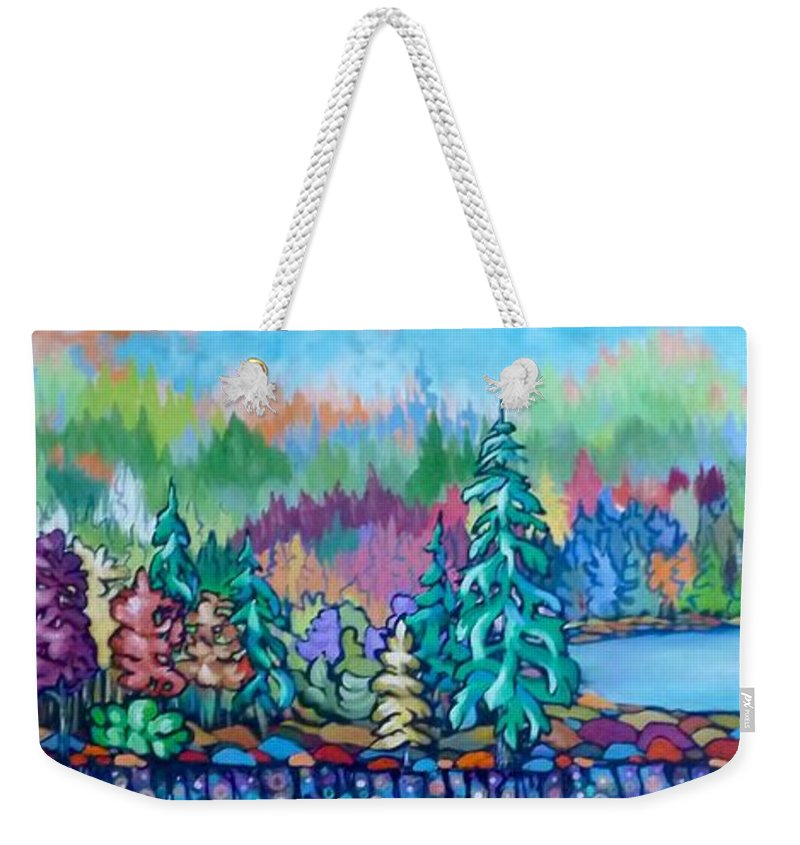 Landscape Painting Weekender Tote Bag featuring the painting Fall's Fever by Tammy Watt
