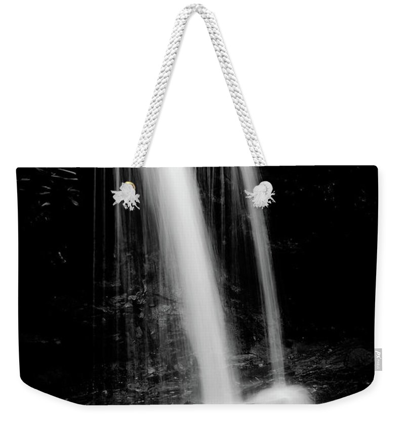 Waterfall Weekender Tote Bag featuring the photograph Falls In The Smokies by Steven Ford