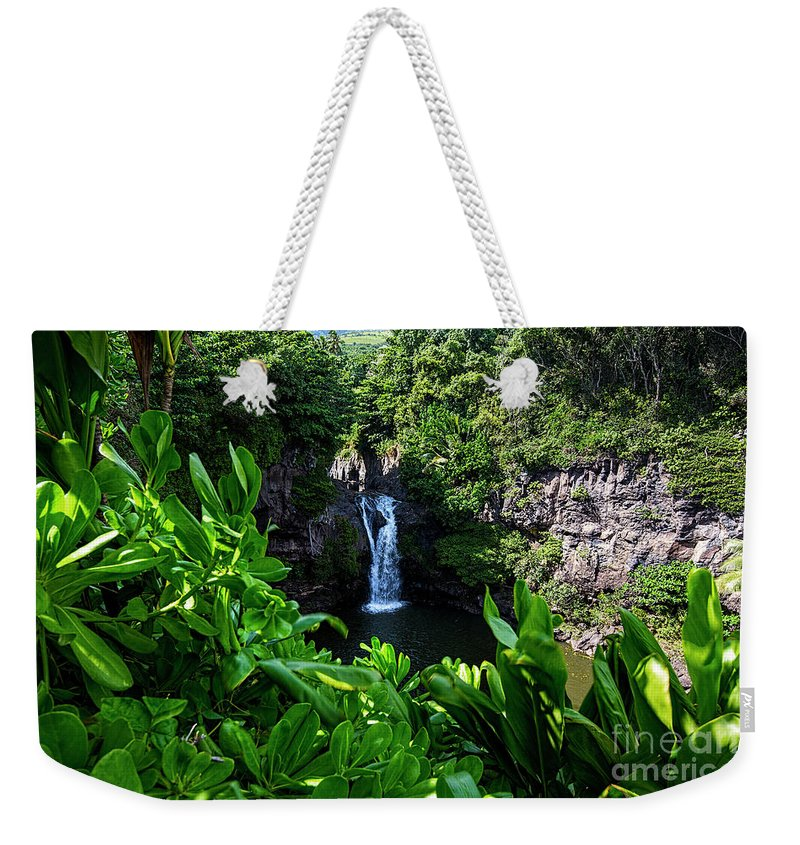 Maui Weekender Tote Bag featuring the photograph Falls Seven Sacrad Pools by Keith Ducker