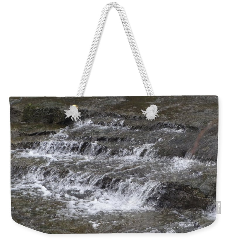 Water Weekender Tote Bag featuring the photograph Fallsville by Kayla Chapel
