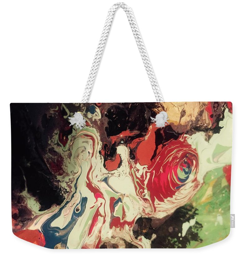 Abstract Weekender Tote Bag featuring the painting Fames Whore by Edward Paul