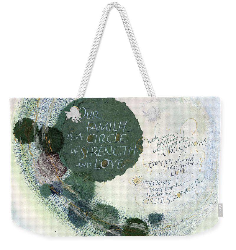 Adoption Weekender Tote Bag featuring the painting Family Circle by Judy Dodds