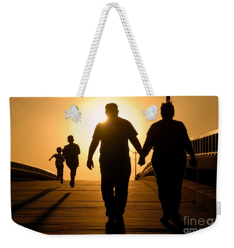 Family Weekender Tote Bag featuring the photograph Family by David Lee Thompson