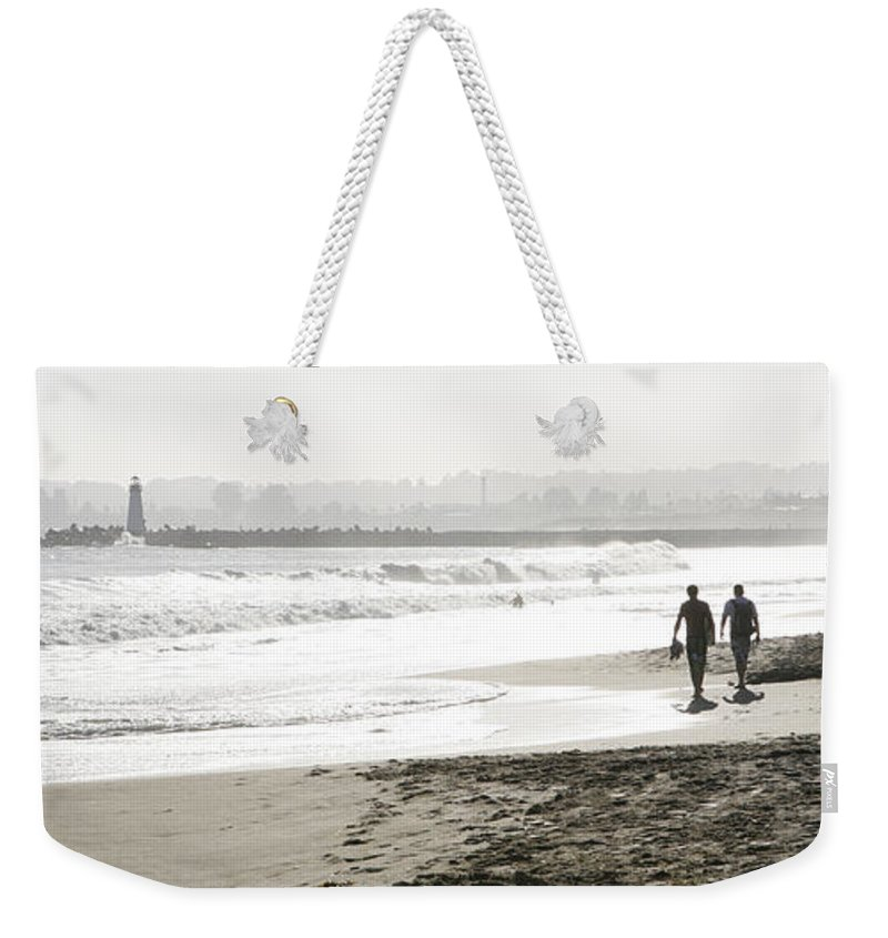 Men Weekender Tote Bag featuring the photograph Family Fun At The Beach by Marilyn Hunt