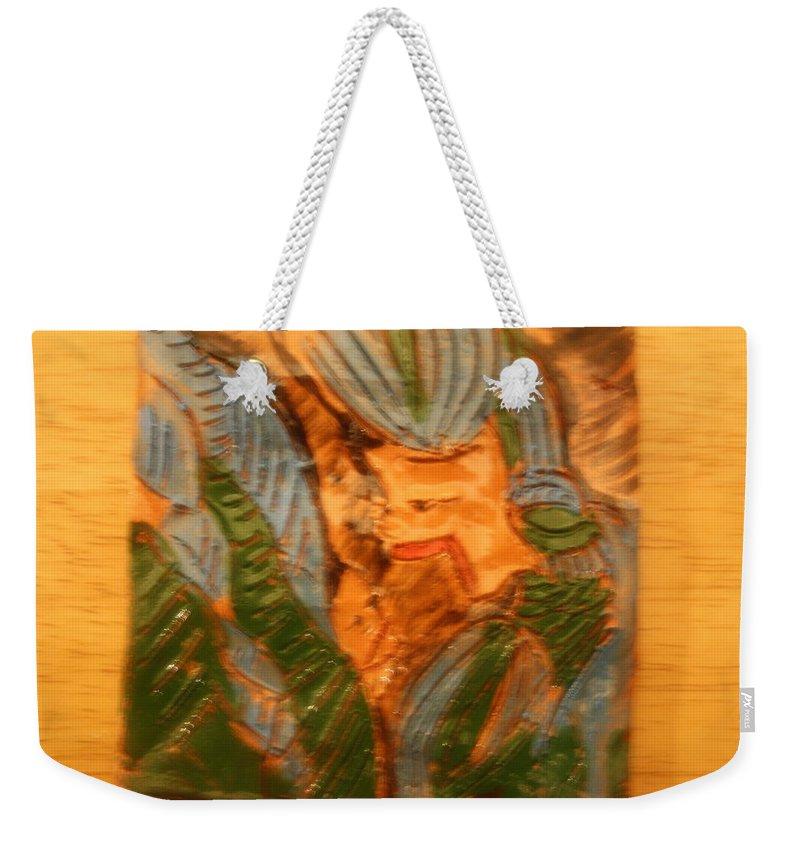 Jesus Weekender Tote Bag featuring the ceramic art Fancy That - Tile by Gloria Ssali