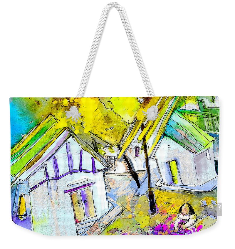 Fantasy Landscape Weekender Tote Bag featuring the painting Fantaquarelle 07 by Miki De Goodaboom
