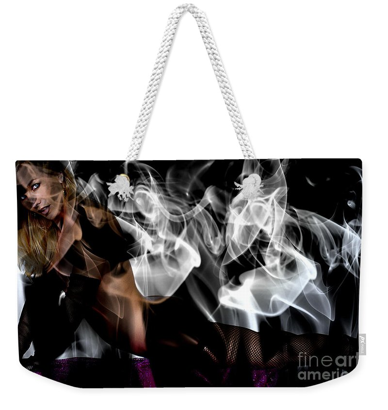 Clay Weekender Tote Bag featuring the photograph Fantasies In Smoke I by Clayton Bruster