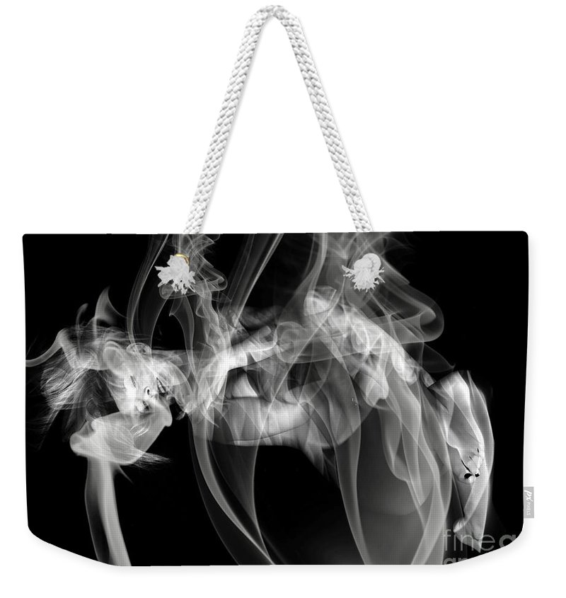 Clay Clayton Bruster Smoke Nude Art Erotic Abstract Beauty Wall Sexy Sensual Weekender Tote Bag featuring the photograph Fantasies In Smoke Iv by Clayton Bruster