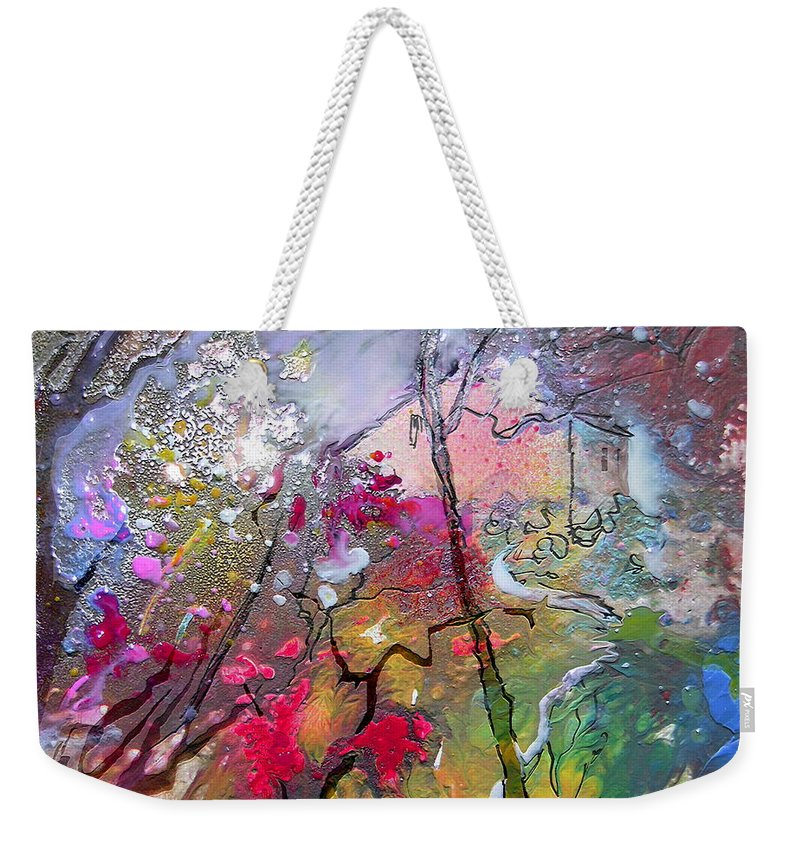 Miki Weekender Tote Bag featuring the painting Fantaspray 19 1 by Miki De Goodaboom