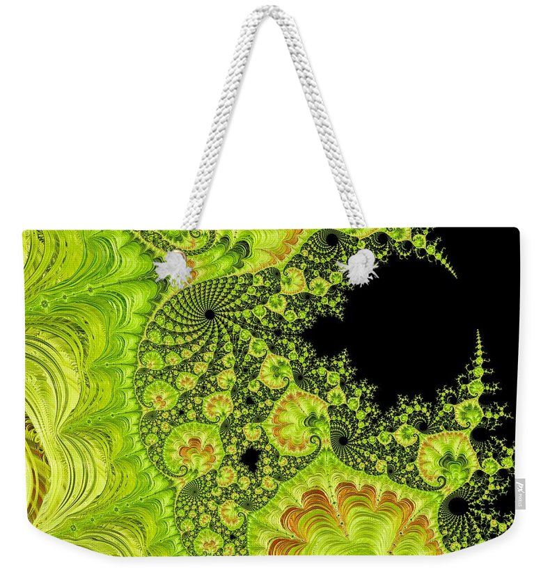 Abstract Weekender Tote Bag featuring the photograph Fantastic Abstract On Black by Barbara Zahno