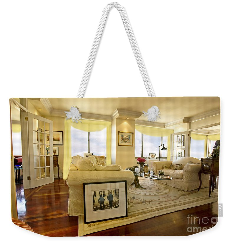 Living Room Weekender Tote Bag featuring the photograph Fantasy Drapes by Madeline Ellis