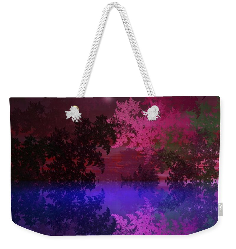Abstract Digital Painting Weekender Tote Bag featuring the digital art Fantasy Landscape by David Lane