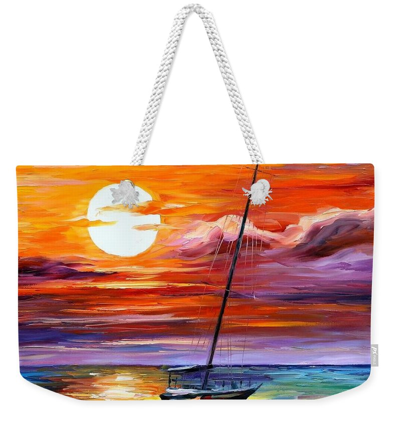 Afremov Weekender Tote Bag featuring the painting Far And Away by Leonid Afremov