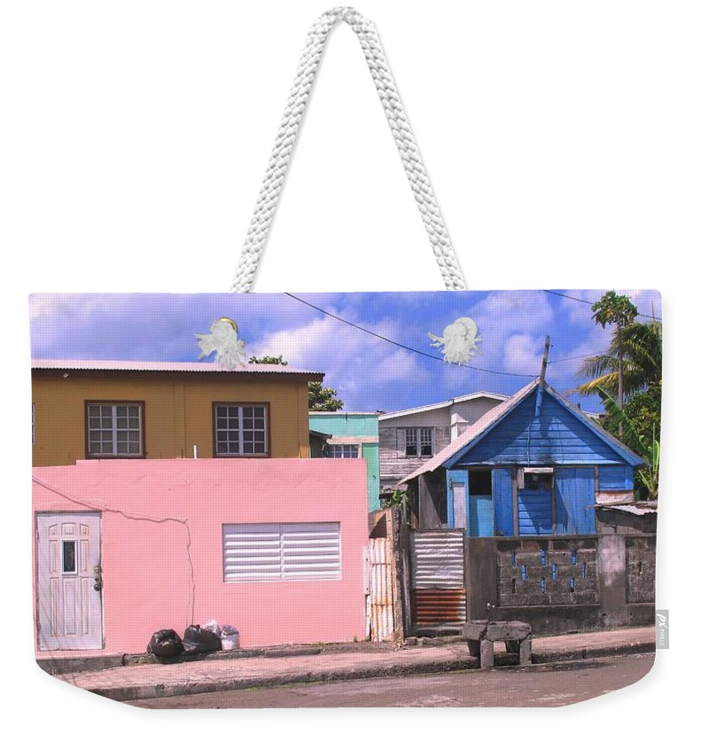 Basseterre Weekender Tote Bag featuring the photograph Far From Dull by Ian MacDonald