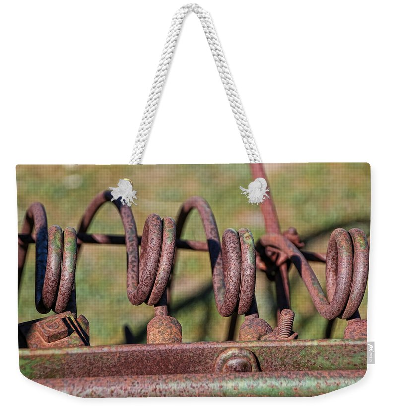 Antelope Island Weekender Tote Bag featuring the photograph Farm Equipment 7 by Ely Arsha