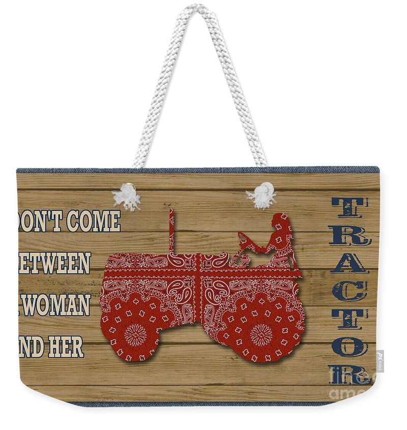 Digital Weekender Tote Bag featuring the painting Farm Life-jp3230 by Jean Plout