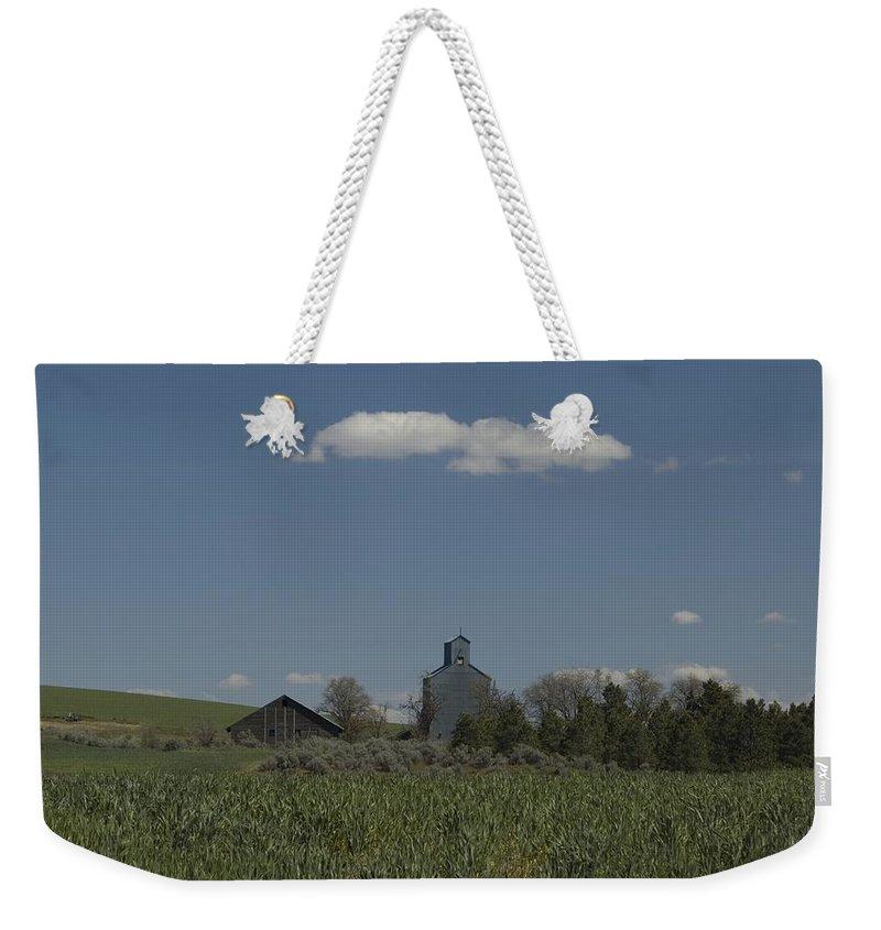 Field Weekender Tote Bag featuring the photograph Farm by Sara Stevenson