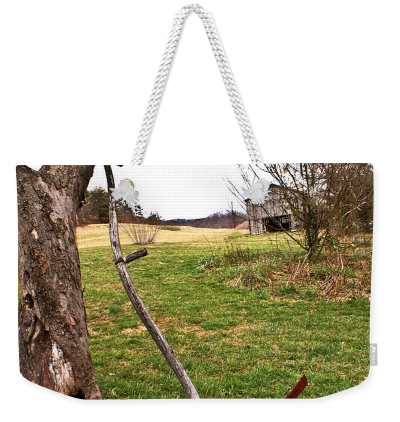 Sythe Weekender Tote Bag featuring the photograph Farm Scene by Douglas Barnett