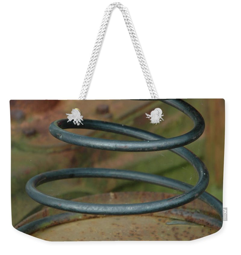 Spring Weekender Tote Bag featuring the photograph Farmall Spring by Kathy Carlson
