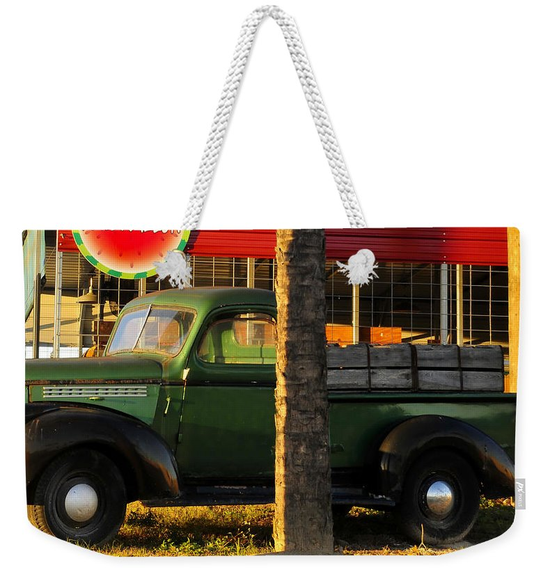 Farmers Market Weekender Tote Bag featuring the photograph Farmers Market by David Lee Thompson