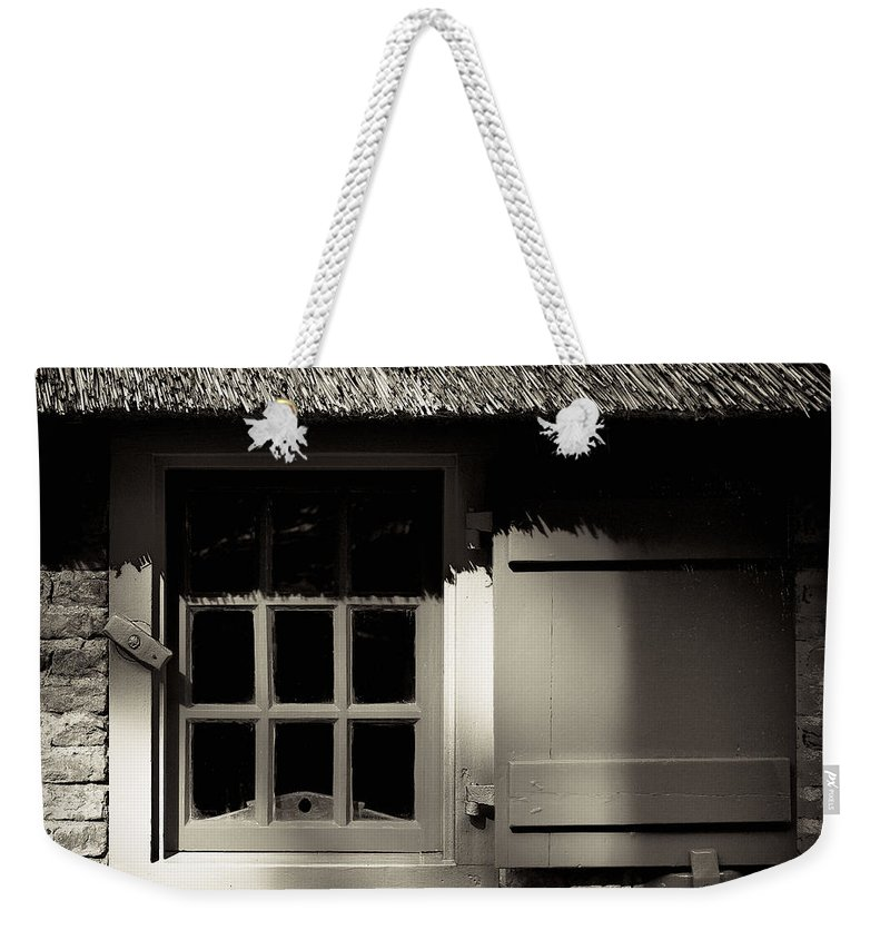Dutch Weekender Tote Bag featuring the photograph Farmhouse Window by Dave Bowman