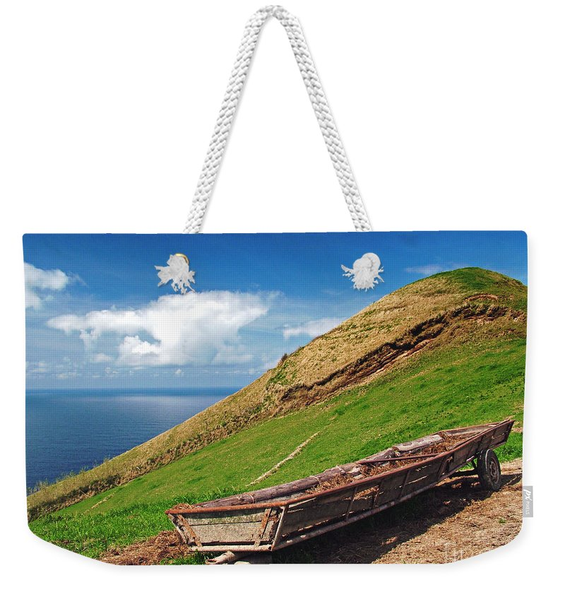 Europe Weekender Tote Bag featuring the photograph Farming In Azores Islands by Gaspar Avila