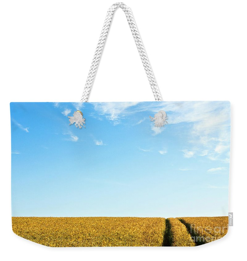 Europe Weekender Tote Bag featuring the photograph Farmland To The Horizon 1 by Heiko Koehrer-Wagner
