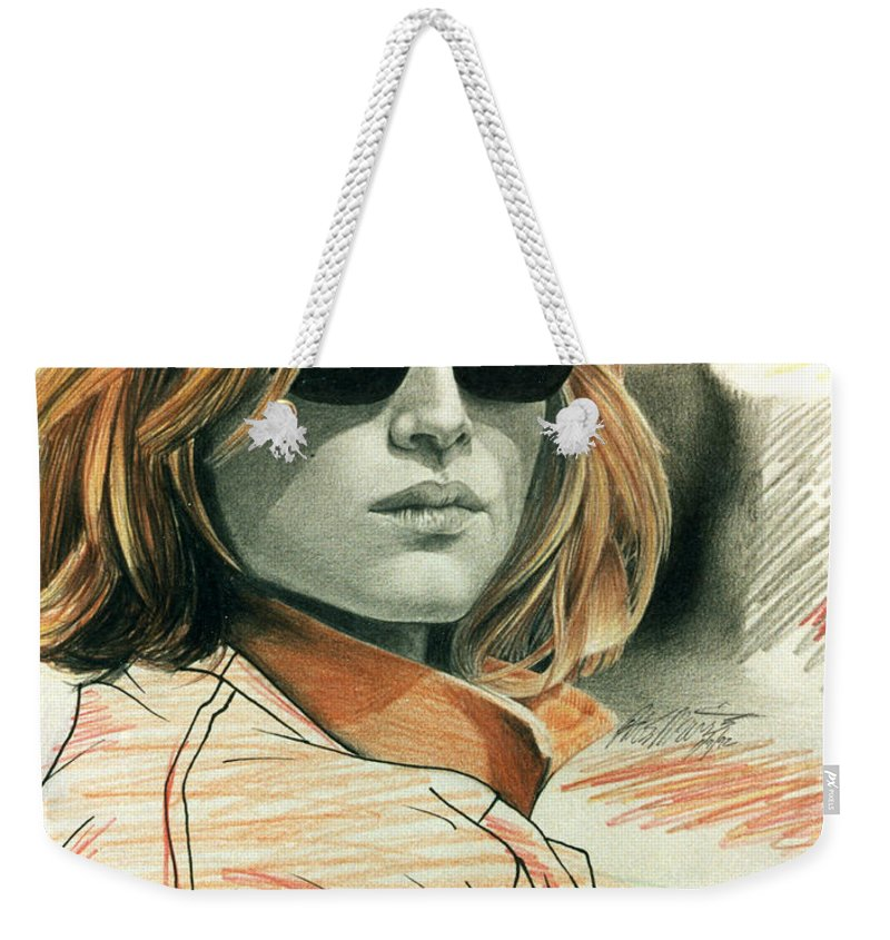 Shaun Weekender Tote Bag featuring the painting Fashion Illustration by Shaun McNicholas