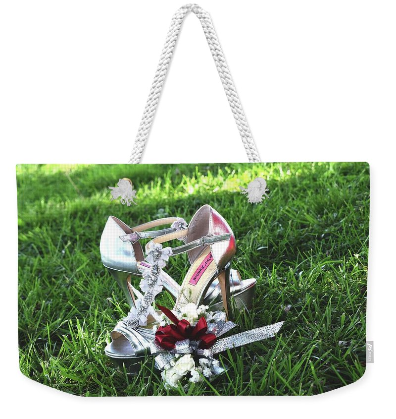 Shoes Weekender Tote Bag featuring the photograph Fashion Photography by Kayla Chapel