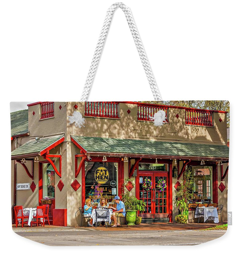 New Orleans Weekender Tote Bag featuring the photograph Fat Hen Grocery - New Orleans by Steve Harrington