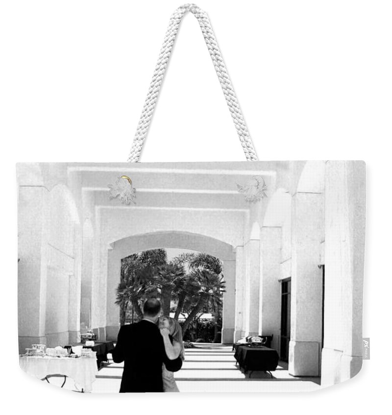 Dance Weekender Tote Bag featuring the photograph Father And Bride by Anthony Jones