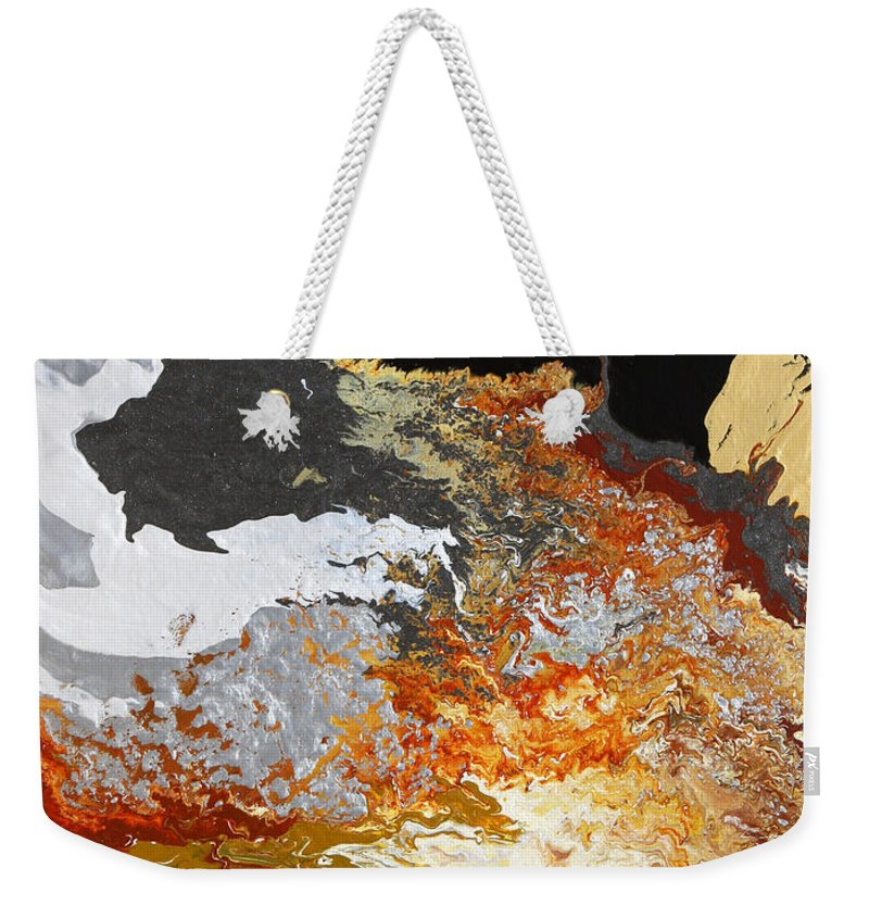 Fusionart Weekender Tote Bag featuring the painting Fathom by Ralph White