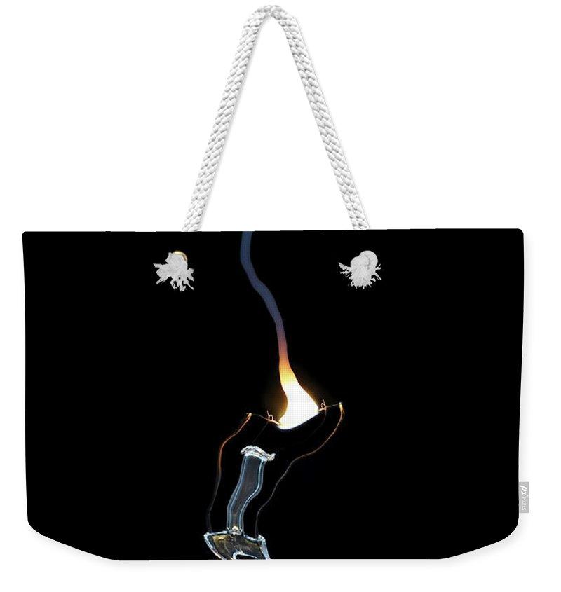 Bulb Weekender Tote Bag featuring the digital art Fault by Michal Boubin
