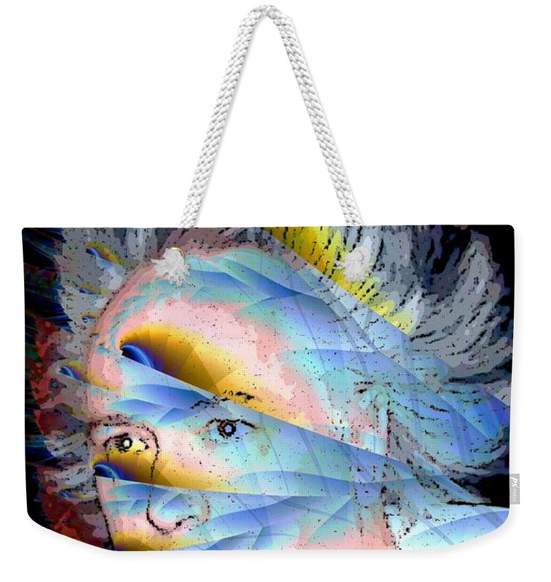 Faun Weekender Tote Bag featuring the digital art Faunus by Ron Bissett