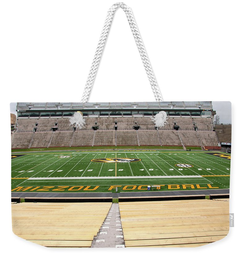 Faurot Field Weekender Tote Bag featuring the photograph Faurot Field by Steve Stuller