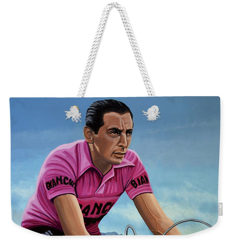 Cyclist Weekender Tote Bags