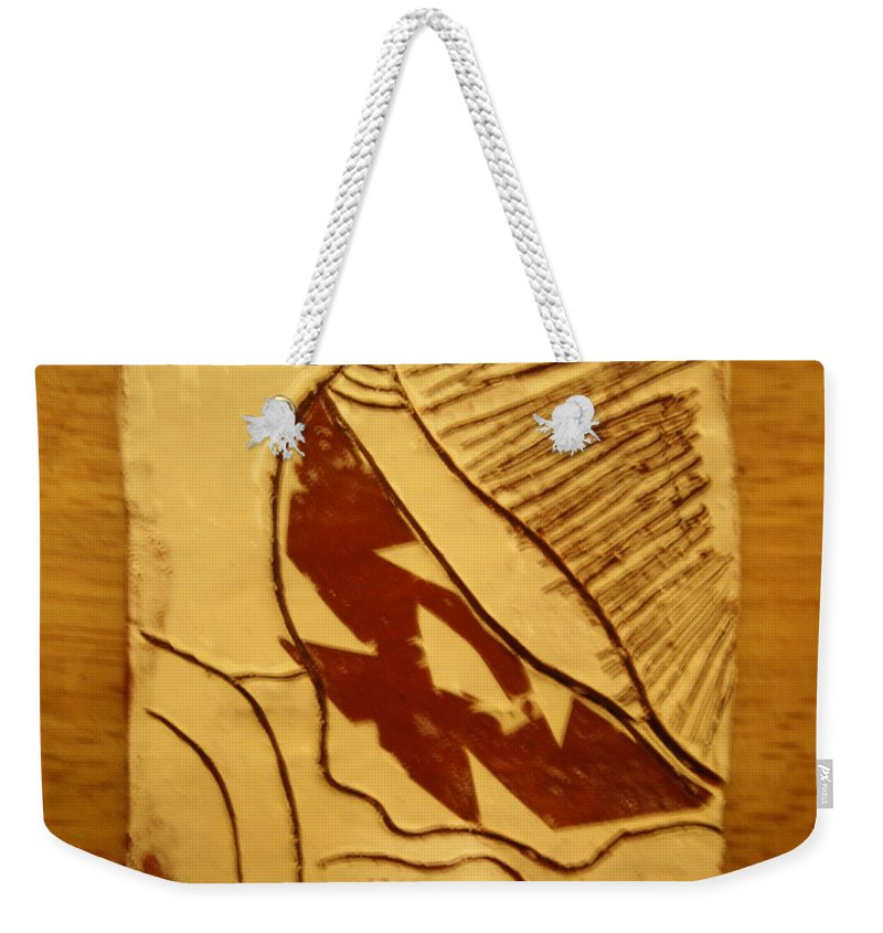 Jesus Weekender Tote Bag featuring the ceramic art Favour - Tile by Gloria Ssali