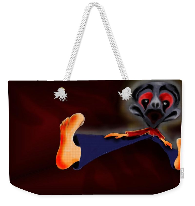 Dream Weekender Tote Bag featuring the painting Fear Dream by Helmut Rottler