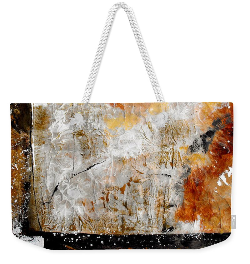 Abstract Weekender Tote Bag featuring the painting Fear Of The Unknown by Ruth Palmer